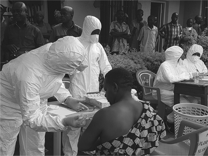 Ebola ring vaccination launched in the Mangina, Democratic Republic of Congo epicenter by the Ministry of Health with WHO and UN partners' support.
